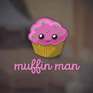 Muffin man – Free cupcake pastry logo vector free logo preview