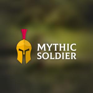 Mythic Soldier – Spartan historic helmet logo free logo preview