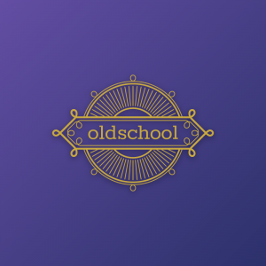 Oldschool – Decorative vintage logo vector free logo preview