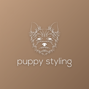 Puppy styling – Furry dog outline logo vector free logo preview