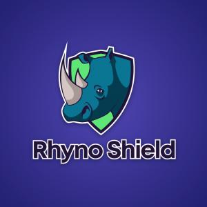 Rhyno Shield – Rhinoceros animal mascot logo free logo preview