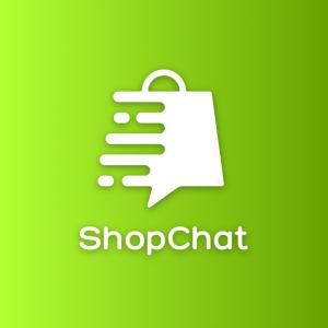 ShopChat – Speech bubble shopping bag logo free logo preview