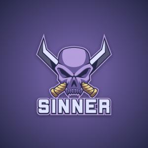 Sinner – Free skull sword mascot gaming logo free logo preview