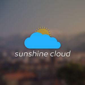 Sunshine Cloud – Free weather vector logo free logo preview
