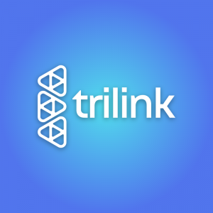 Trilink – Free triangle technology logo vector free logo preview