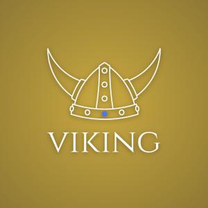 Viking – Helmet horn outline logo warrior free logo preview