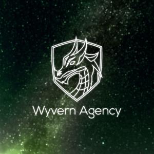 Wyvern Agency – Dragon outline logo mascot free logo preview