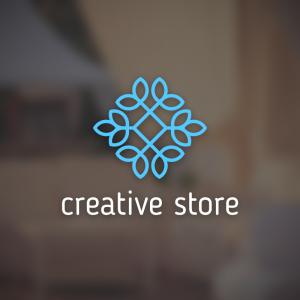 Creative store – Geometric logo design vector free logo preview