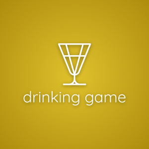 Drinking game – Outline glass drink logo vector free logo preview