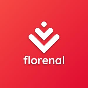 Florenal – Free minimal flower logo design free logo preview