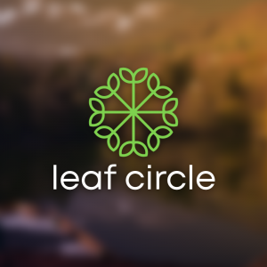 Leaf Circle – Green nature free logo vector free logo preview