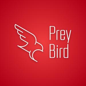 Prey Bird – Minimal eagle flying logo design free logo preview