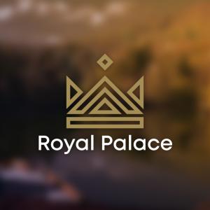 Royal Palace – King crown vector logo design free logo preview