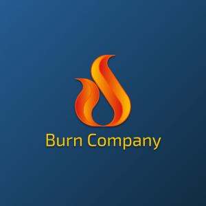 Burn Company – Geometric fire free logo vector free logo preview