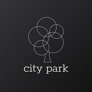 City Park – Minimal outline tree vector logo free logo preview