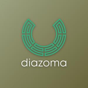 Diazoma – Ancient Greek maze theatre logo free logo preview