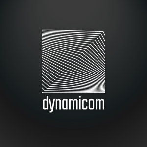 Dynamicom – Dynamic lines geometric logo vector free logo preview