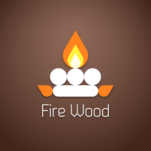 Fire Wood – Geometric camping free logo vector free logo preview