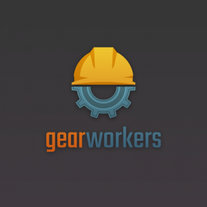 Gear Workers – Safety cap construction logo free logo preview