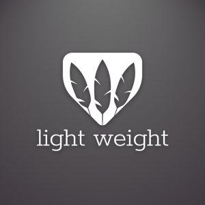 Light Weight – Feather negative space free logo free logo preview