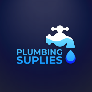 Plumbing Suplies – Water drop tap logo design free logo preview