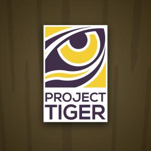 Project Tiger – Geometric predator eye logo free logo preview