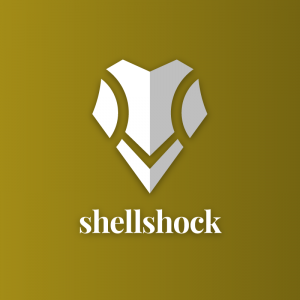 Shellshock – Geometric shield free logo vector free logo preview