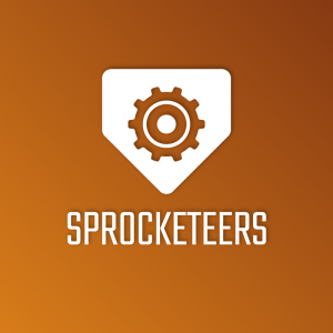 Sprocketeers – Negative space gear logo vector free logo preview