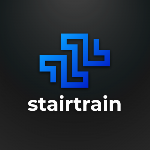 Stairtrain – Geometric logo vector download free logo preview