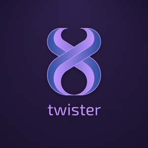 Twister – Abstract geometric free logo download free logo preview