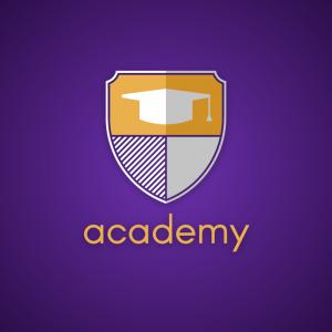 Academy – Shield graduation logo vector design free logo preview