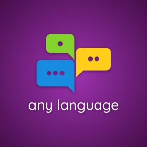Any language – Speech bubble education logo free logo preview