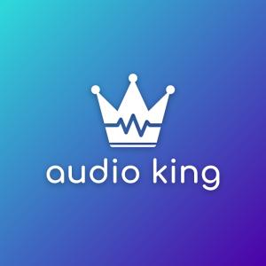 Audio king – Music royal crown logo design free logo preview