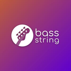 Bass string – Musical instrument guitar logo free logo preview