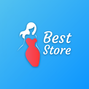 Best Store – Fashion lady logo vector free logo preview