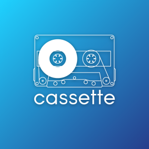 Cassette – Vintage tape logo design free logo preview