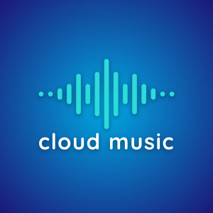 Cloud music – Audio stream logo Ai download free logo preview