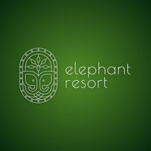 Elephant resort – Nature animal outline logo free logo preview