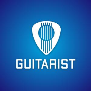 Guitarist – Guitar pick string log design free logo preview