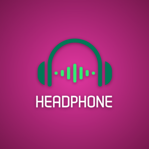 Headphone – Audio music logo design download free logo preview