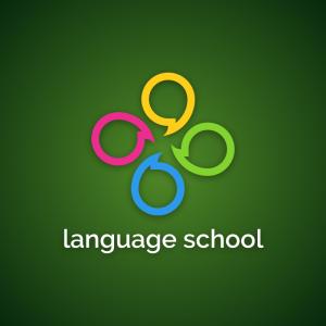 Language school – Speech bubble logo design free logo preview