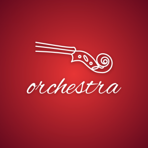 Orchestra – Violin symphony music logo vector free logo preview