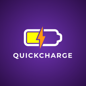 Quickcharge – Battery electricity logo vector free logo preview