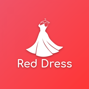 Red dress – Fashion logo design vector free logo preview