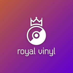 Royal vinyl – Crown record vector logo design free logo preview