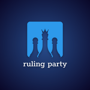 Ruling party – Chess political game logo free logo preview