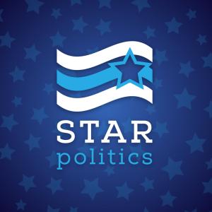Star politics – Campaign election logo design free logo preview