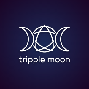 Tripple moon – Wicca witch logo design free logo preview