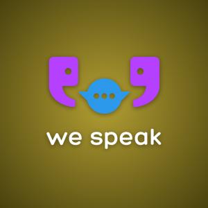 We speak – Language communication logo free free logo preview