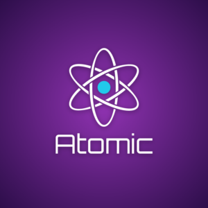 Atomic – Science logo vector free logo preview
